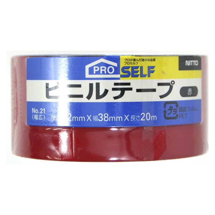 P ビニルテープ 38×20 赤