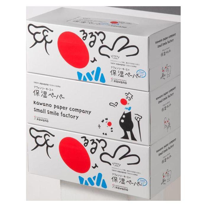 【風邪対策】 保湿ペーパー アヴォンリー・キース ティッシュ (2枚重ね200組)×3個パック