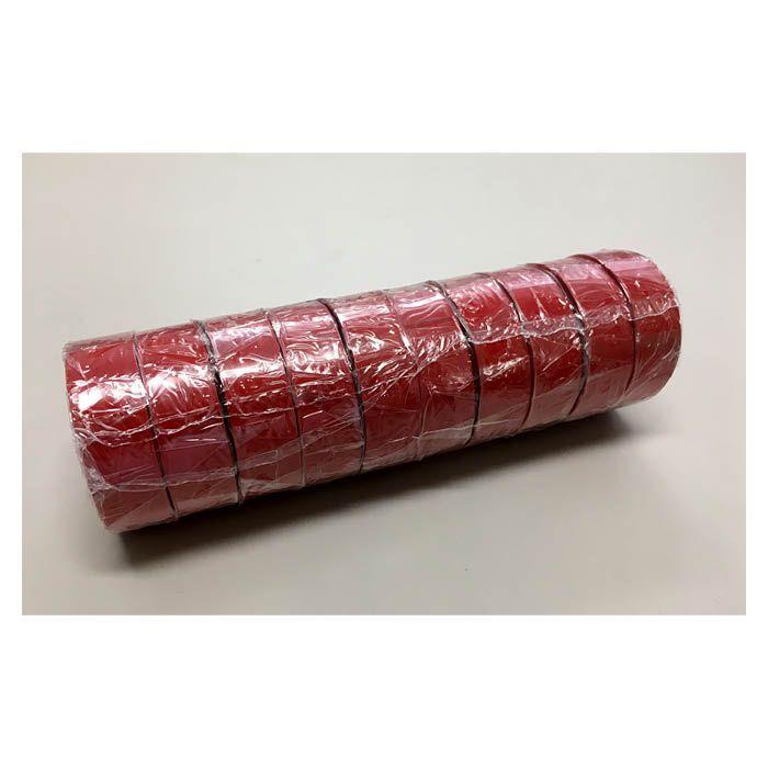 ビニールテープ 10P 赤 19mm×10m