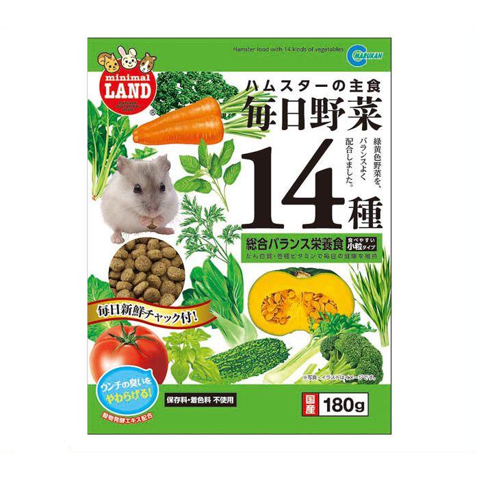 マルカン 毎日野菜14種ハムスター 180g