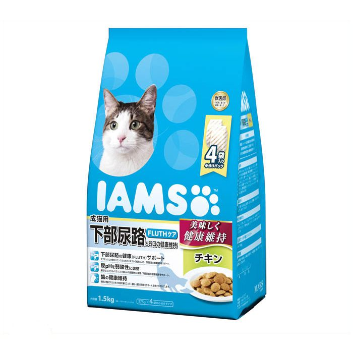 マースジャパン アイムス 成猫用 下部尿路とお口の健康維持 チキン 1.5kg